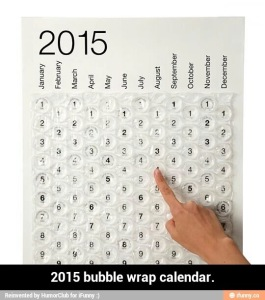 Bubble Wrap Calendar